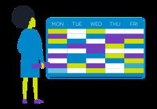 School timetable image