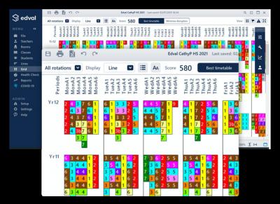 Edval timetable image