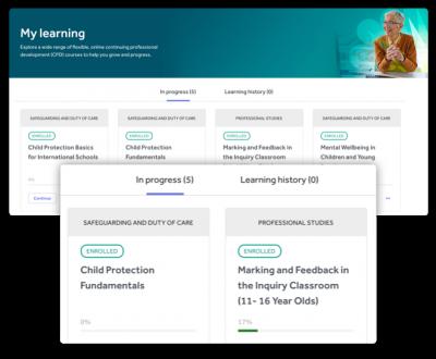 Develop learning history screenshot